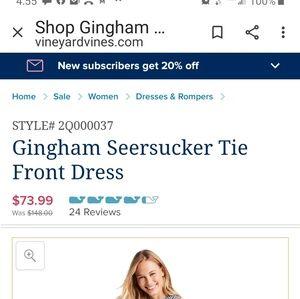 Vineyard Vines Dresses - VV GINGHAM DRESS 14
